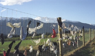 Underwear Ridge � the Infamous Bra Fence on the Road to Wanaka
