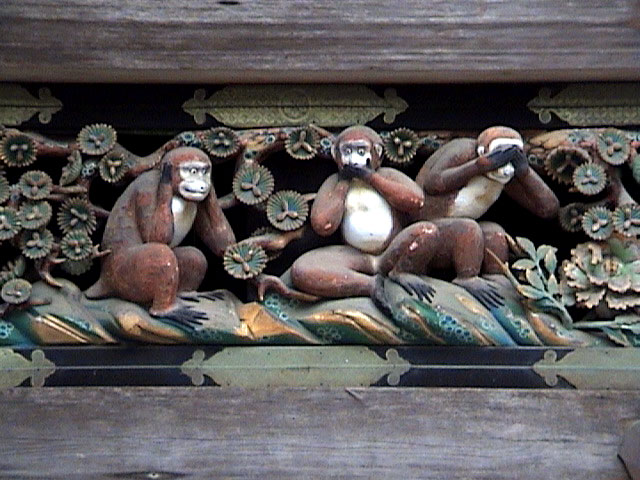 Three Monkeys, Toshogu Temple, Nikko, Japan